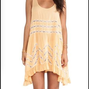 Free people trapeze Slip in tangerine
